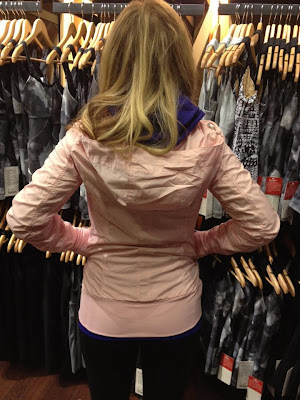 lululemon back on track jacket in pig pink