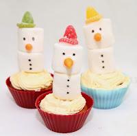 Snømenn cupcakes