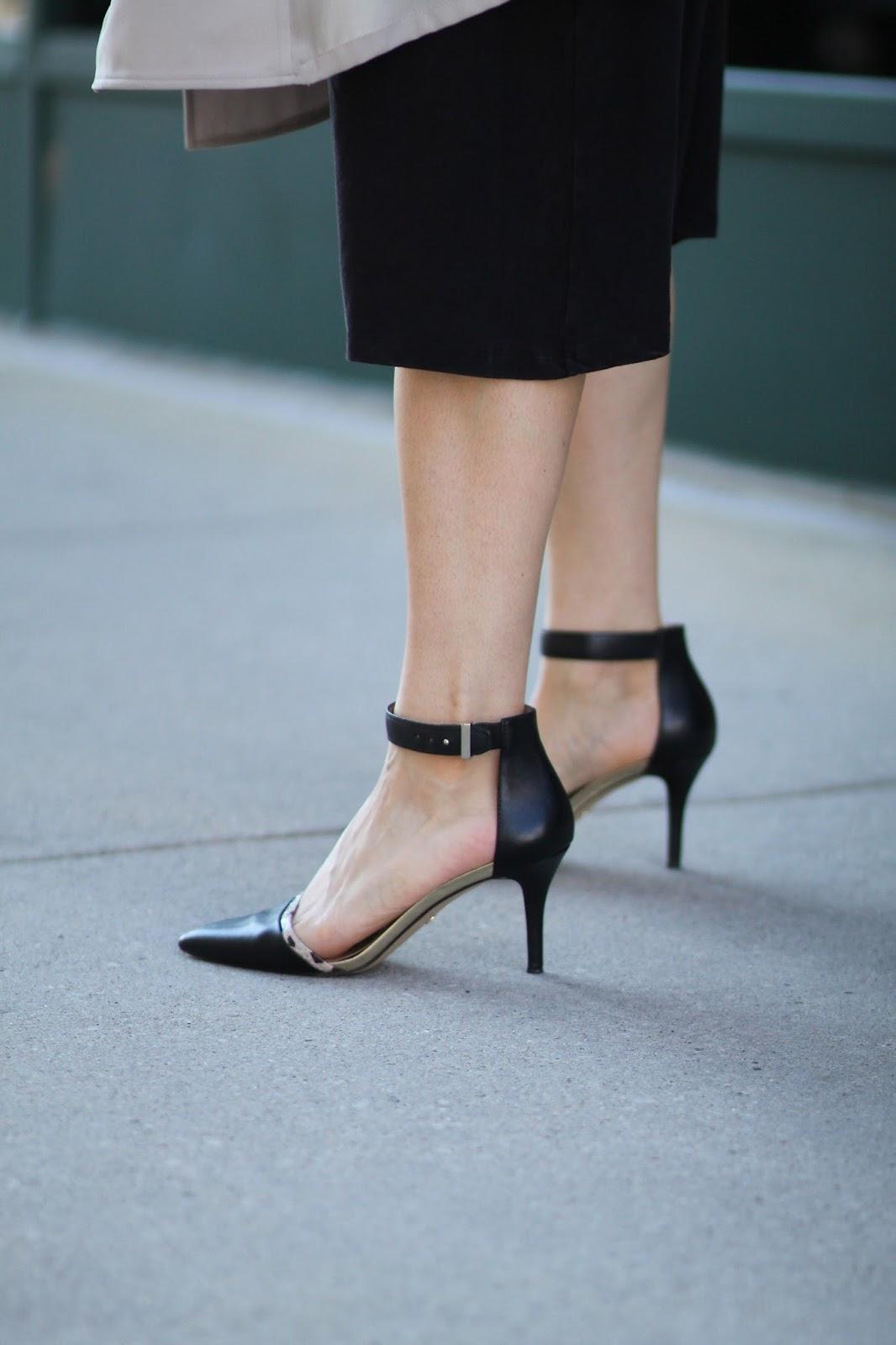 ann, taylor, black, heels