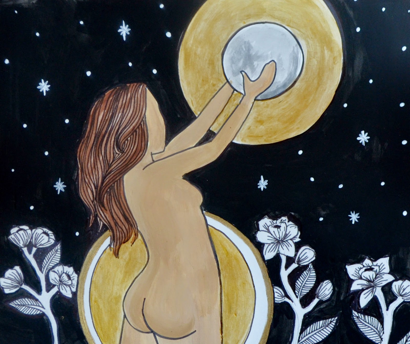 full moon goddess art spiritysol