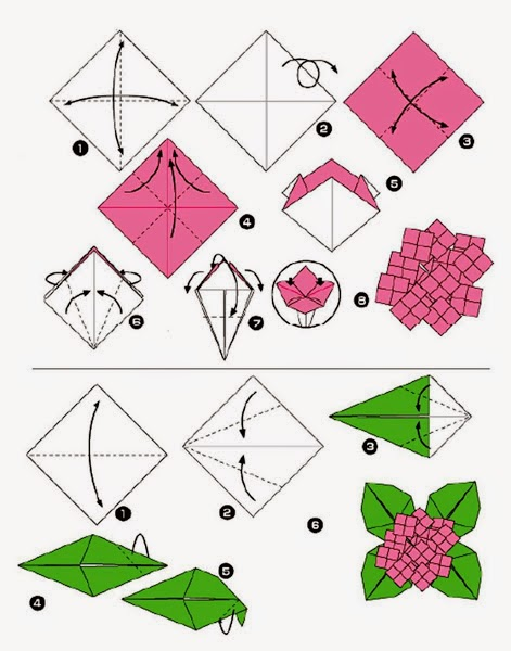 Make origami flower and leaf koran online in the picture to make origami flower and leaf will be shown 2 steps that are different namely flowers and leaves mightylinksfo