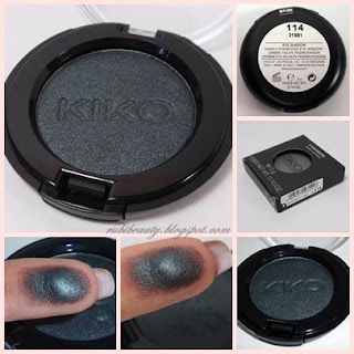 rubibeauty haul kiko cosmetics eyeshadow sombra ojos 114 swatch