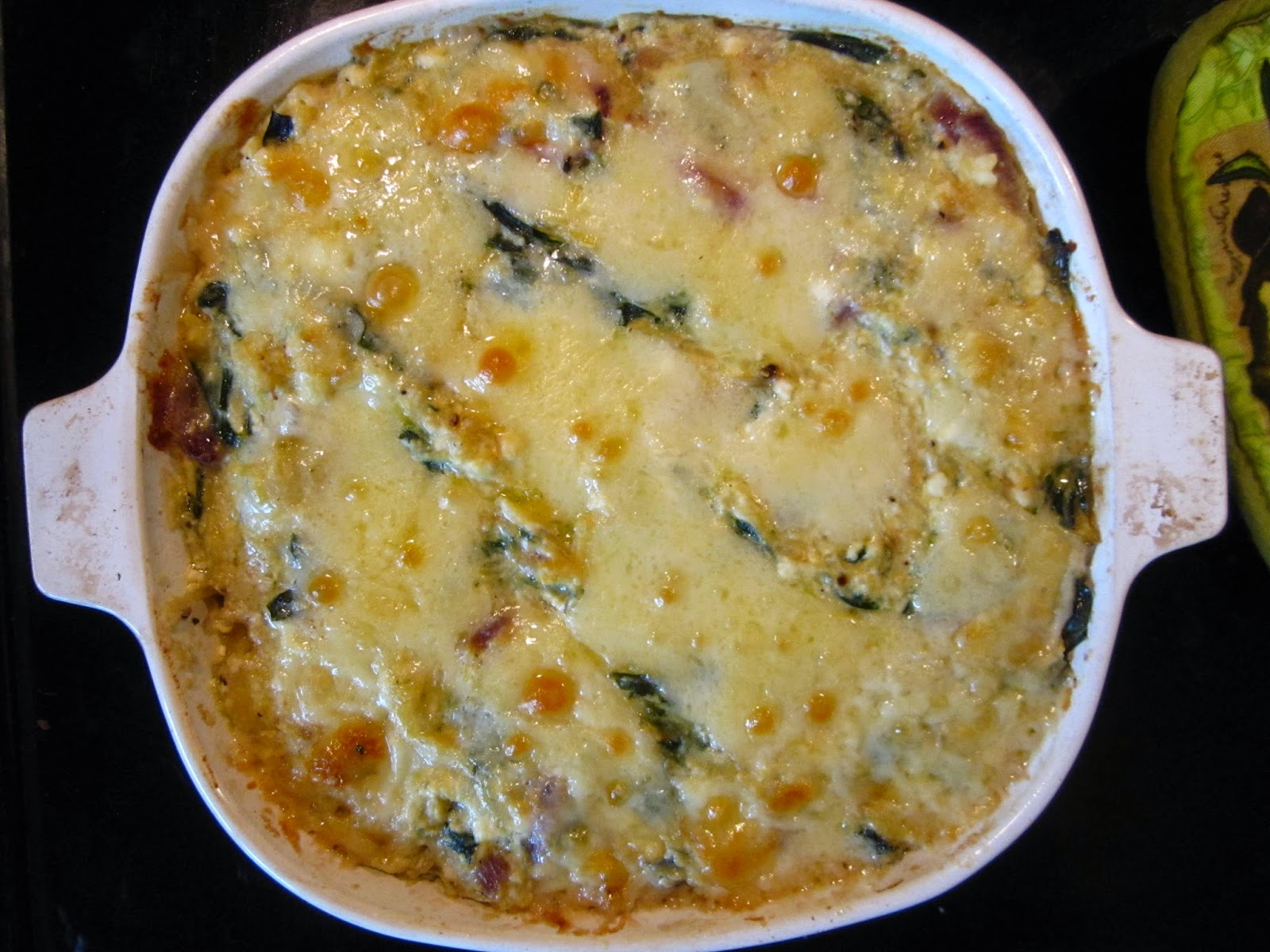 Cold Hands Warm Earth: Spaghetti Squash and Swiss Chard Casserole