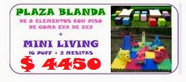 PROMO PLAZA BLANDA + MINI LIVINGS