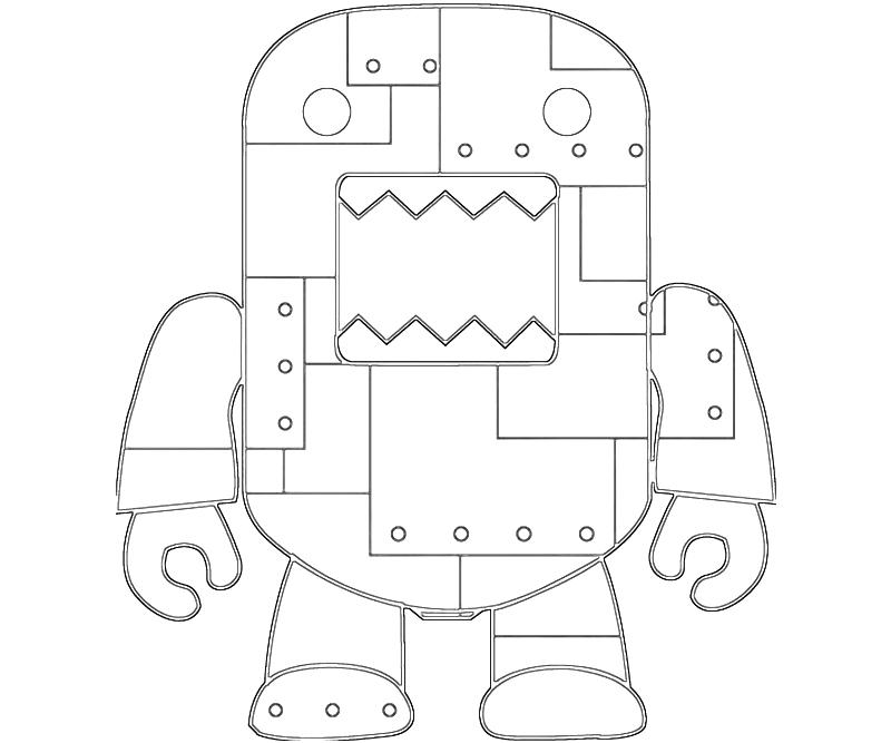 domo kun coloring pages - photo#30