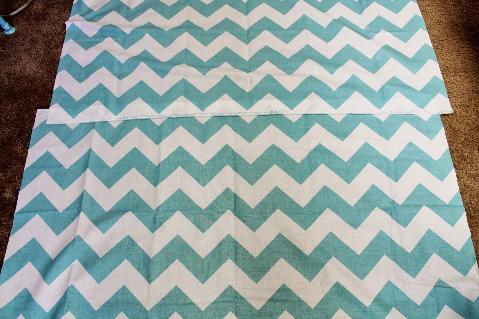Sides together making sure the chevron pattern matches up just right