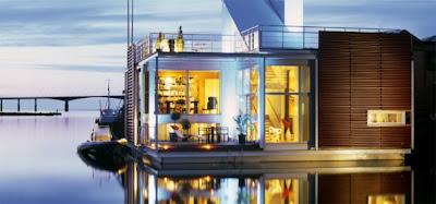 espectacular casa flotante