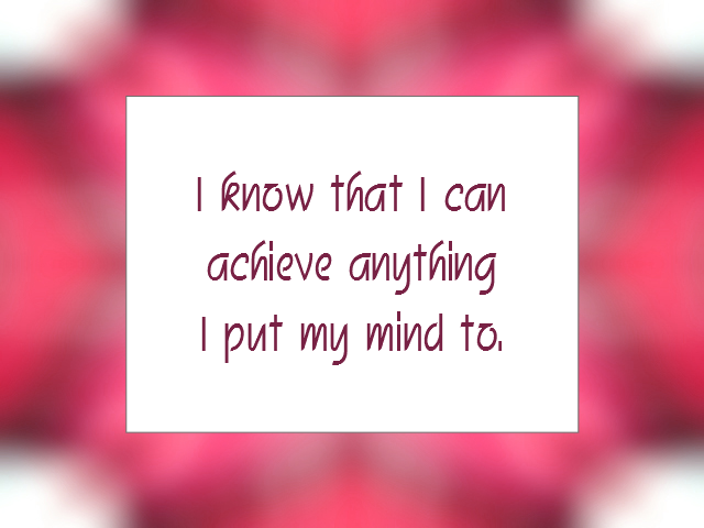 SUCCESS affirmation