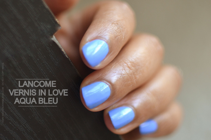 Lancome Vernis in Love Aqua Bleu Nail Polish - Photos - Swatches