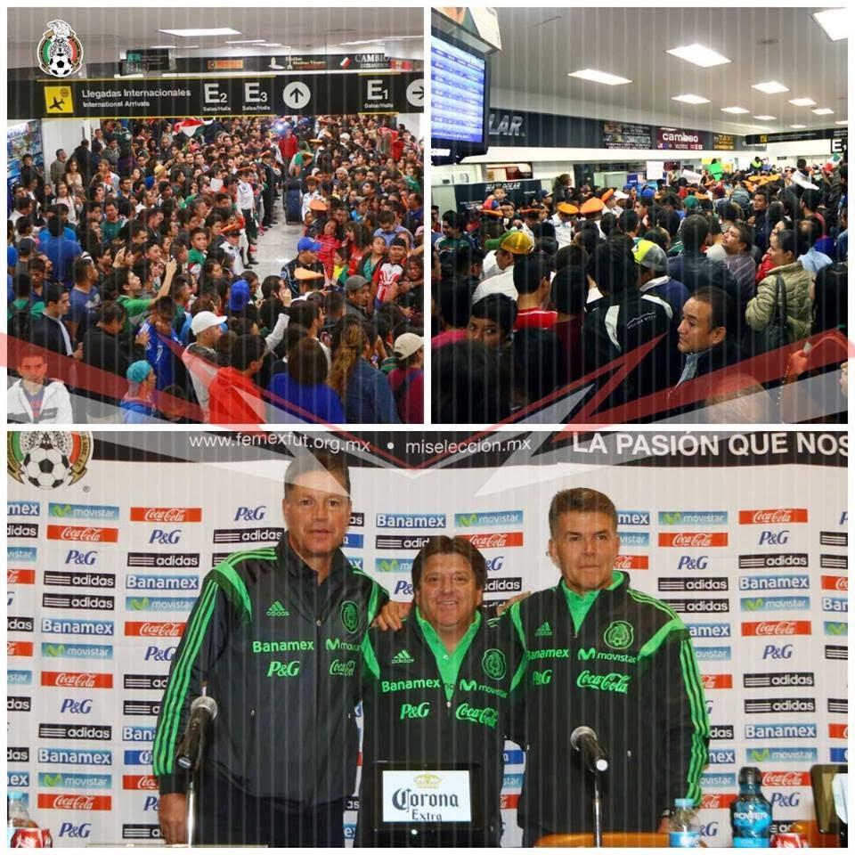 El TRI llegó al DF después de Brasil 2014