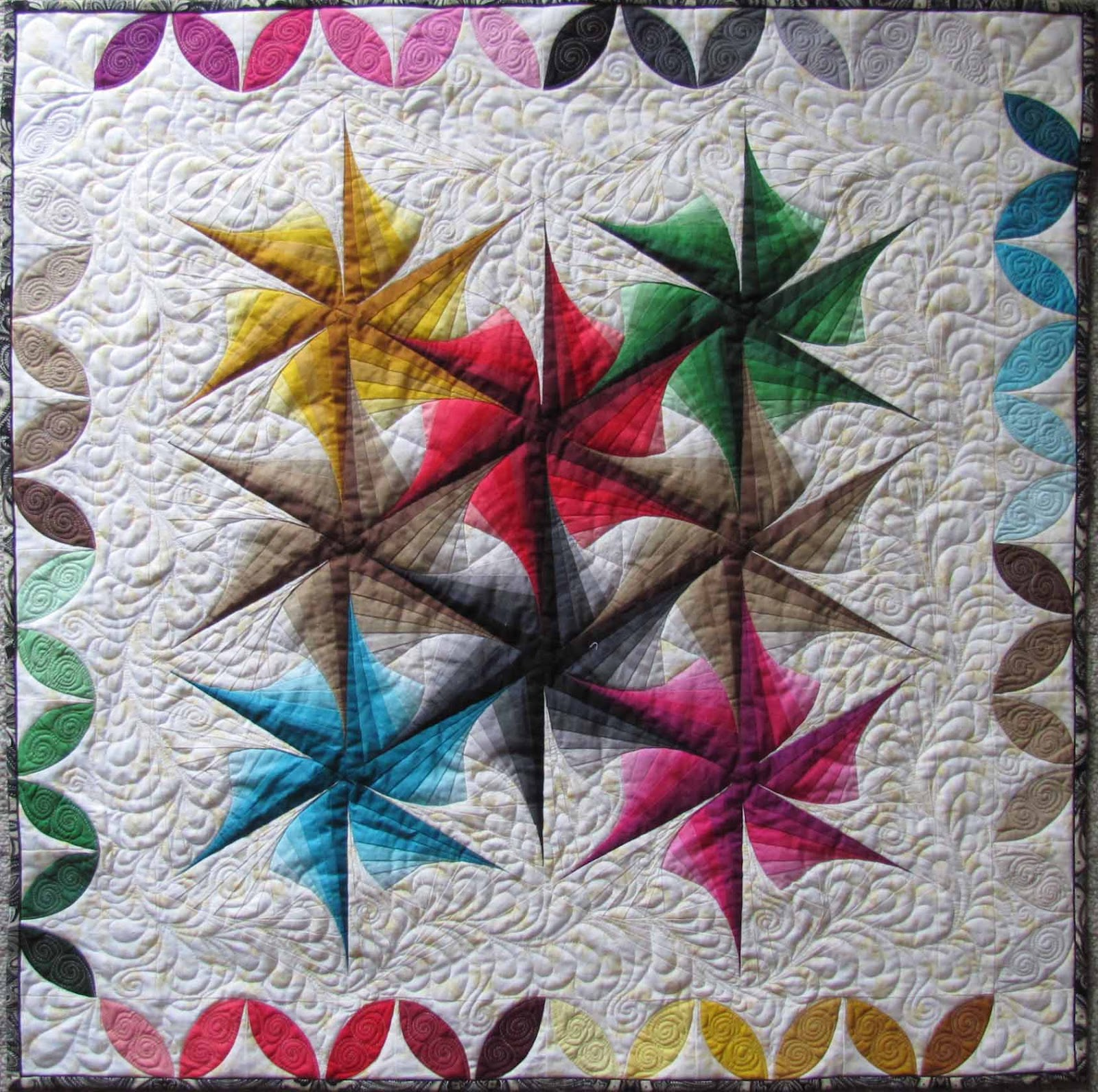 Free Twisted Pinwheel Quilt Pattern : Quilts Patterns, Quilts Inspiration, Twists Quilts, Cabin Triangles, Triangles Twists, Quilts ...