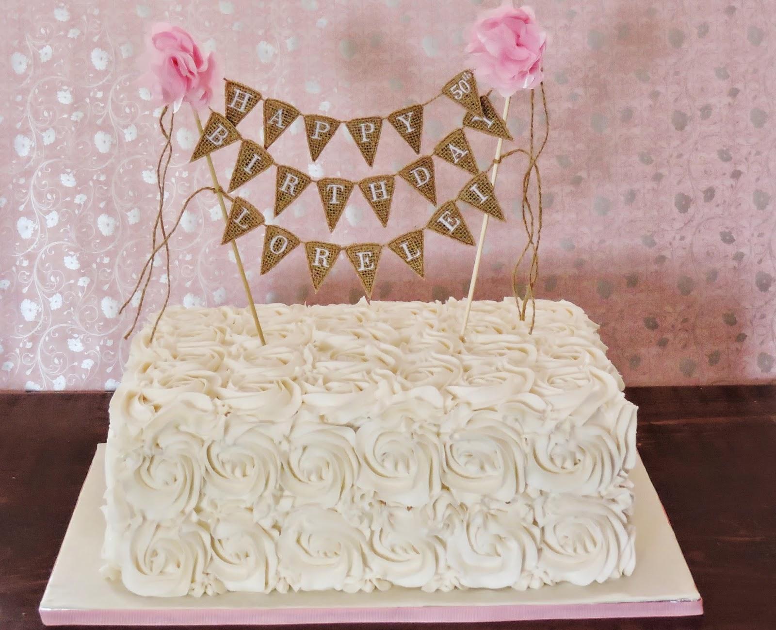 Cakes Something Like That Ivory Buttercream Rose