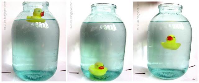 эксперимент: как действует плавательный пузырь