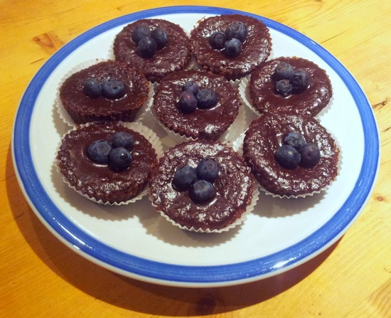 ... makes cakes: Red wine, blueberry and chocolate brownie cupcakes