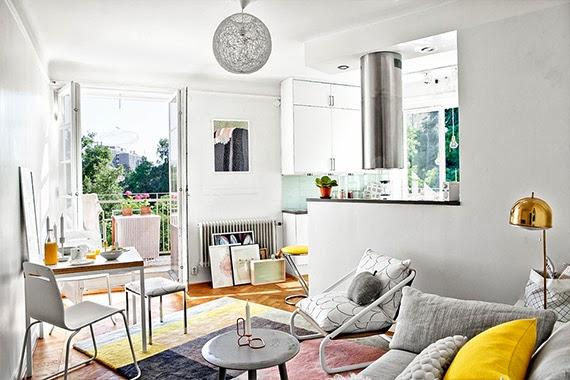 apartamento de um quarto - decoração essencial - ideia de decoração - apartamento iluminado