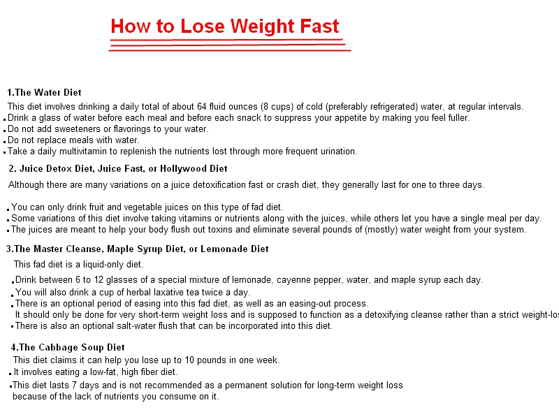 Weight loss complete diet plan