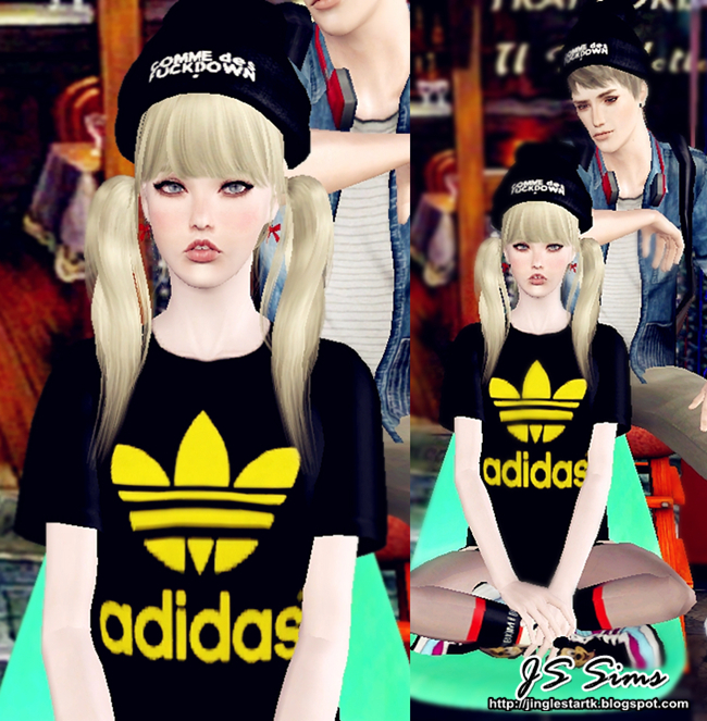 Fashion style Js stylish 3 sims beanie for woman