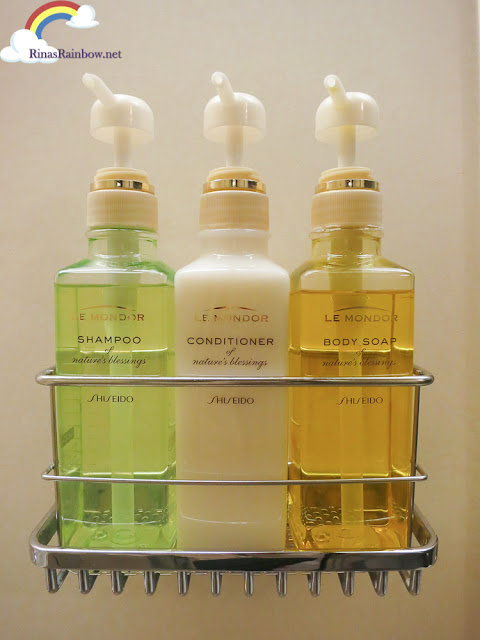 Shiseido Hotel toiletries