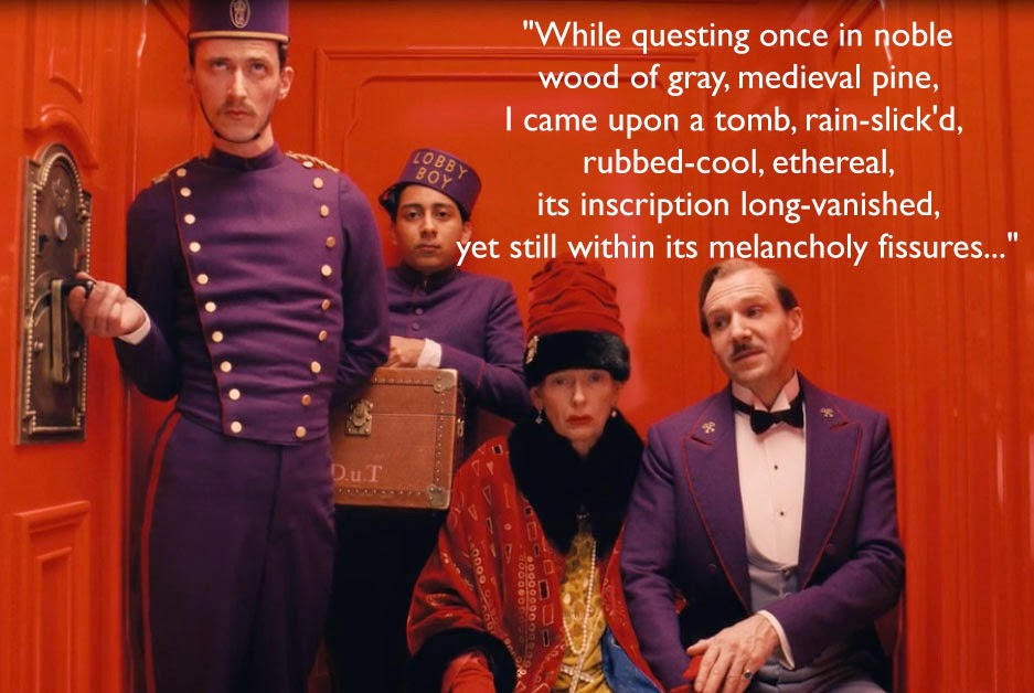 Grand Budapest Hotel Quotes Extraordinary Bluebird Nini The Grand Budapest Hotel Poems