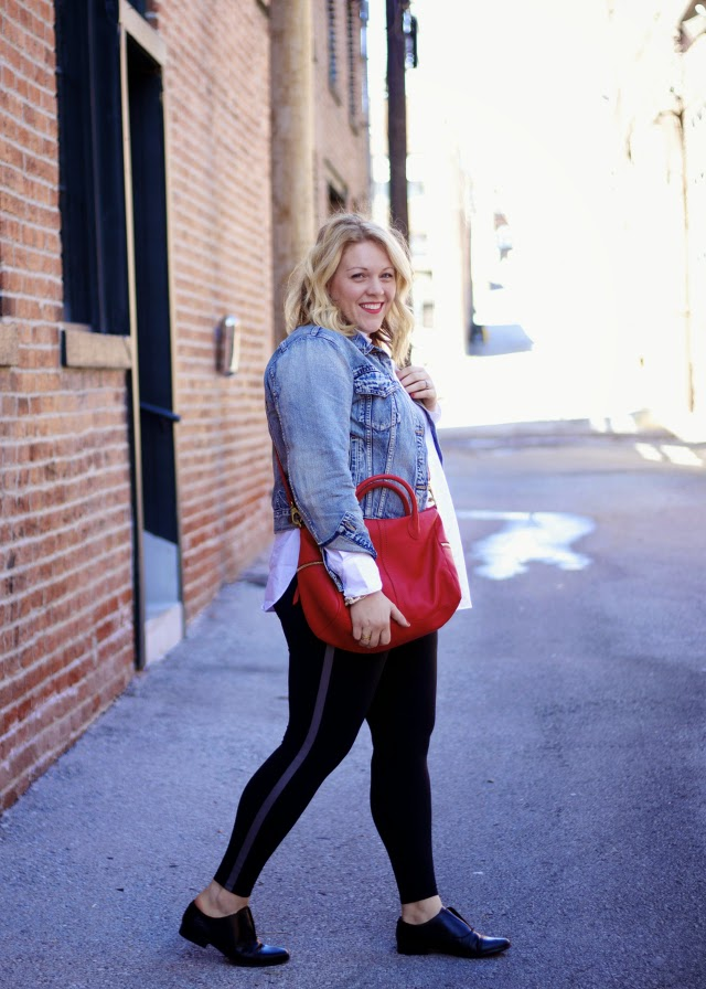 styling loafers with athleta workout pants for day