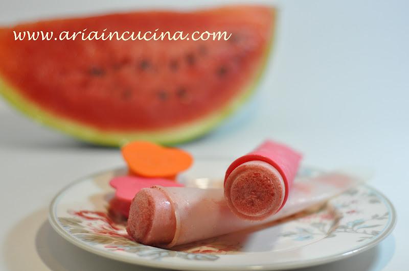 """Blog di cucina di Aria: """"Calippo"""" anguria e limoncello"""
