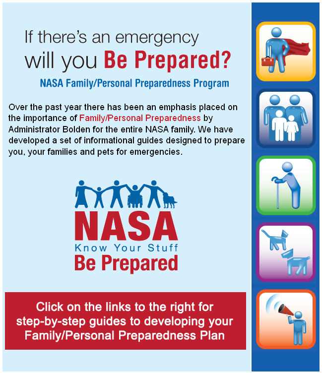 NASA Sent Out a Family/Personal Preparedness Plan To It's ...