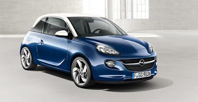 Fotografie de exterior cu noul Opel Adam