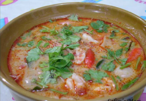 Thai sour and spicy shrimp soup
