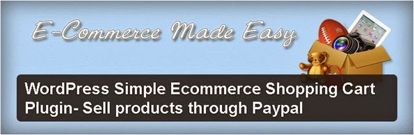 Simple Ecommerce Shopping Cart WordPress plugin