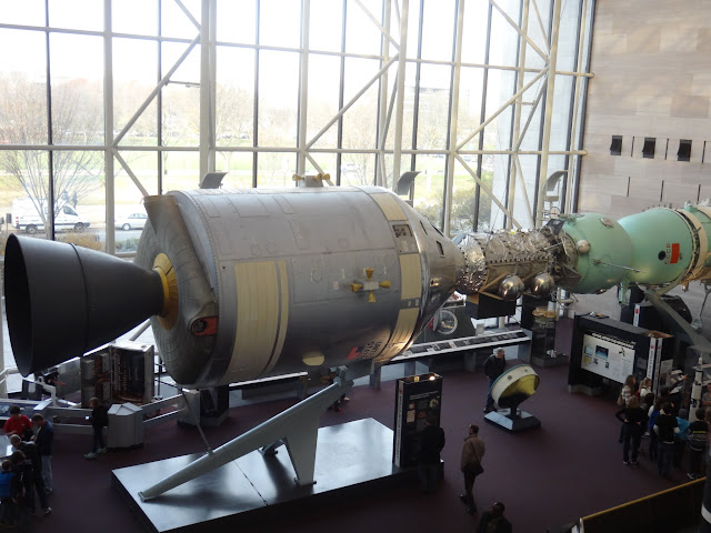 Apollo Soyuz Test Project at Space and Air Museum in Washington DC, USA