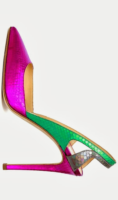 color block stiletto shoes carmen miranda style