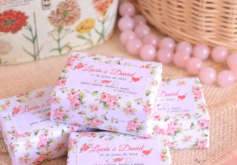 detalles naturales para bodas romanticas jabones florales
