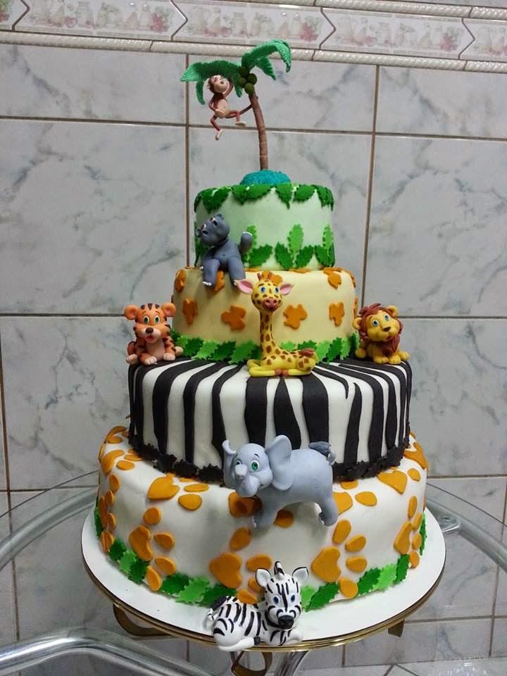 topo de bolo floresta