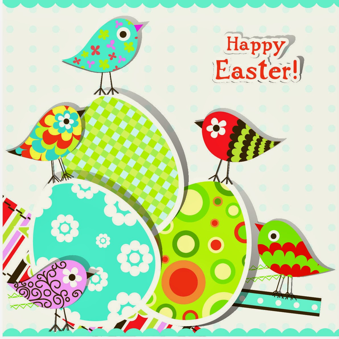Selective image for printable easter cards