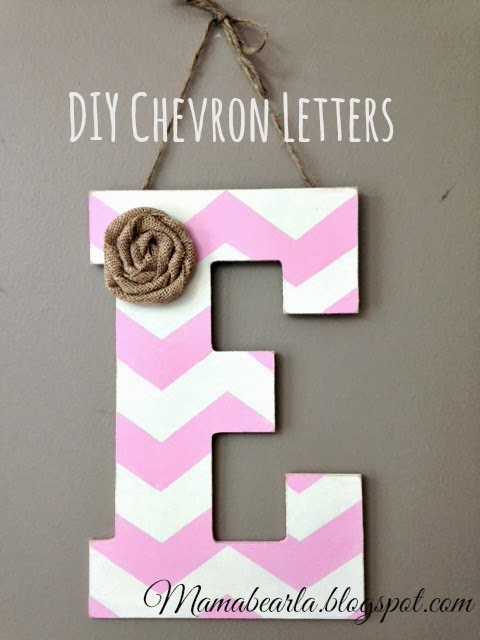 Musings of a mama bear how to make chevron letters for Party wall letter template