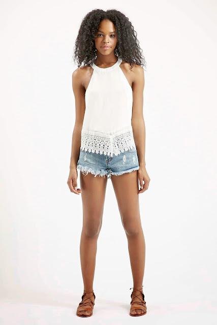 white crochet top vest