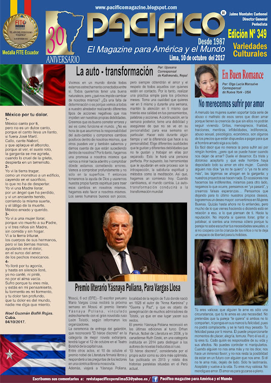 Revista Pacífico Nº 349 Variedades Culturales
