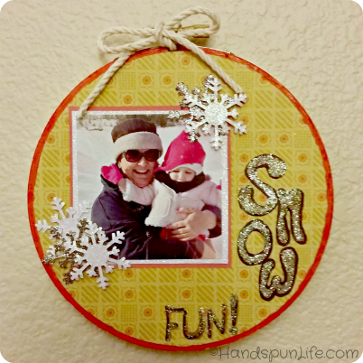 Embroidery Hoop Scrapbook Photo Frame