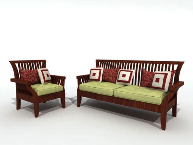 Wood Sofa Sets ~ Modern wooden sofa