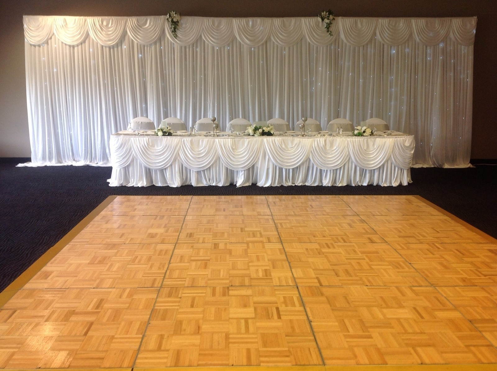 Lara Party Hire Wedding Backdrop Curtain With Swag Amp Fairy Lights