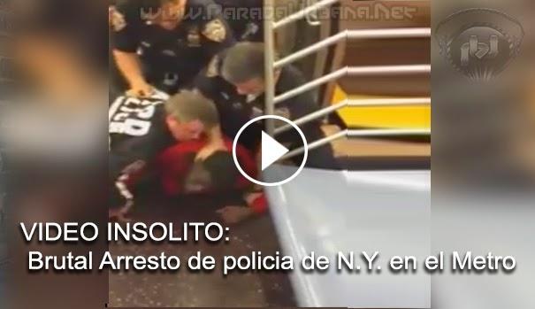 VIDEO IMPACTANTE - Brutal arresto Policía de N.Y. por hombre dormirse en Metro