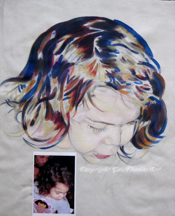 Painted Portraits on Fabric