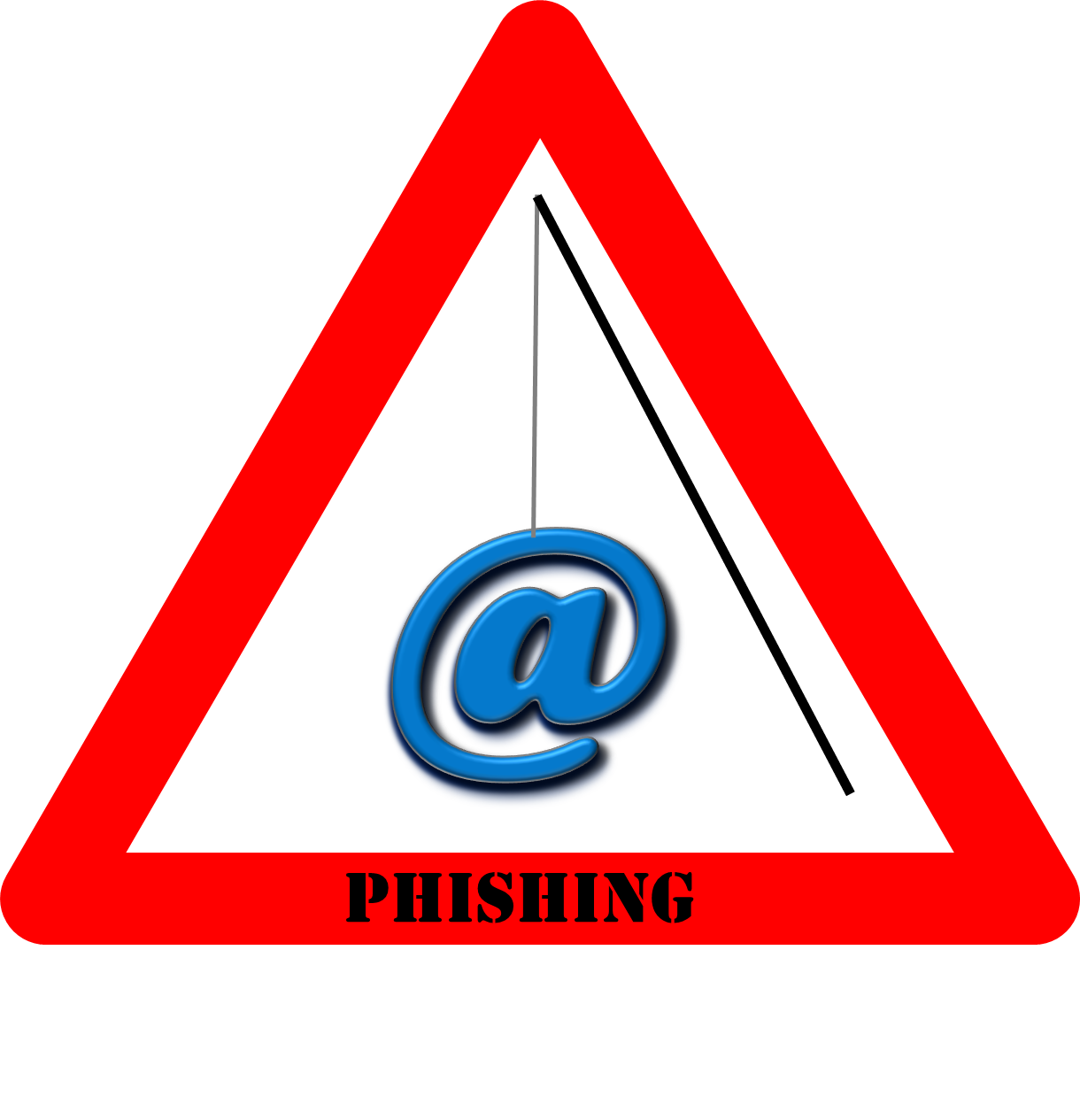 Warning Sign For Phishing