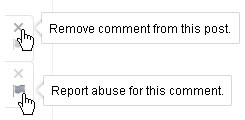 Screenshot: Remove or Report Google Plus Comments