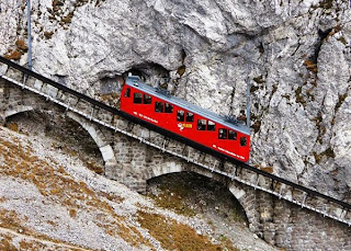 Dangerous and Steepest Railway in Switzerland