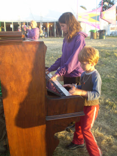 piano in a festival field music