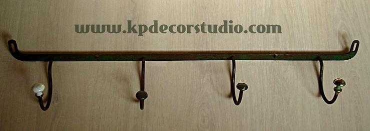 Kp tienda vintage online perchero vintage de forja y - Percheros de pared vintage ...