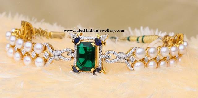 Pearls and Diamond Bracelet