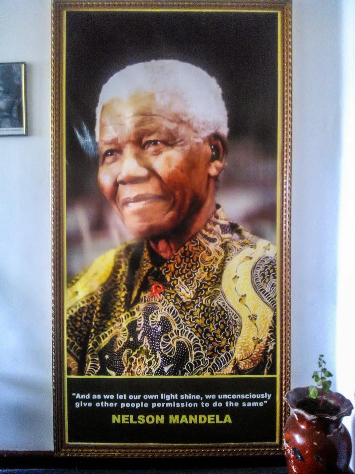 Mandela képe a Ras Hotelben