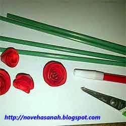 cara membuat bunga dari kertas 5